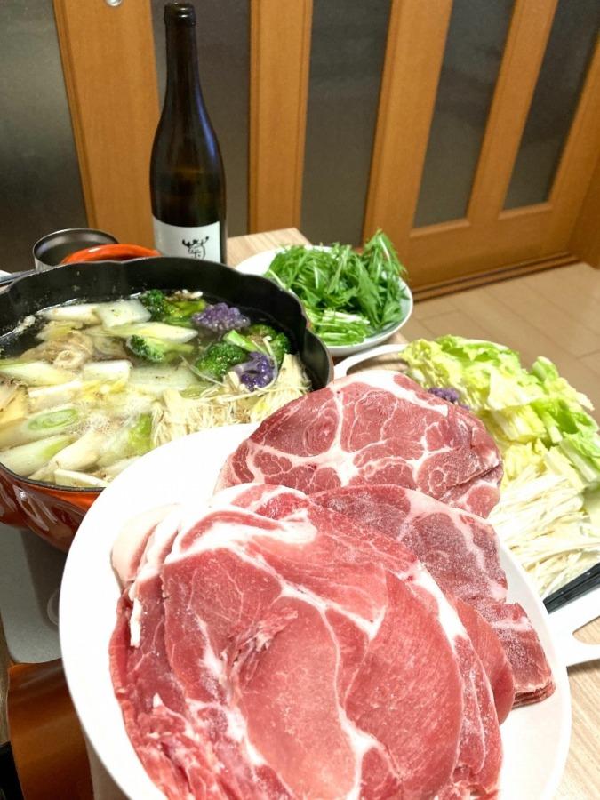 菊鹿wine w お鍋 🤤🍷