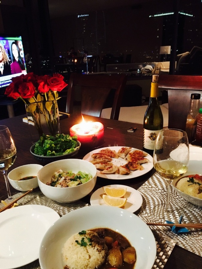 Dinner when I was live in La.