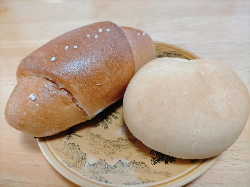 焼たてのいい香りが店内に広がる 米粉パン工房 豆米