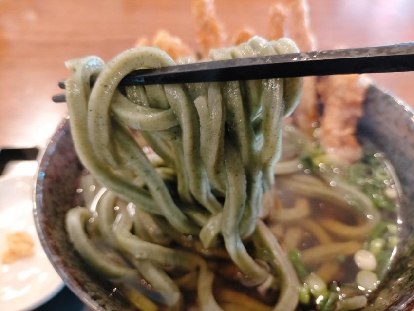 「緑のうどん」よもぎ麺が味わえる筑豊で唯一のお店!筑豊製麺組合 よもぎうどん
